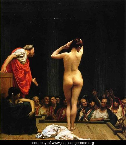 gerome: selling slaves in Rome